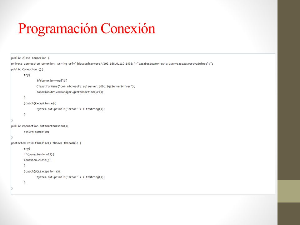 Programación Conexión