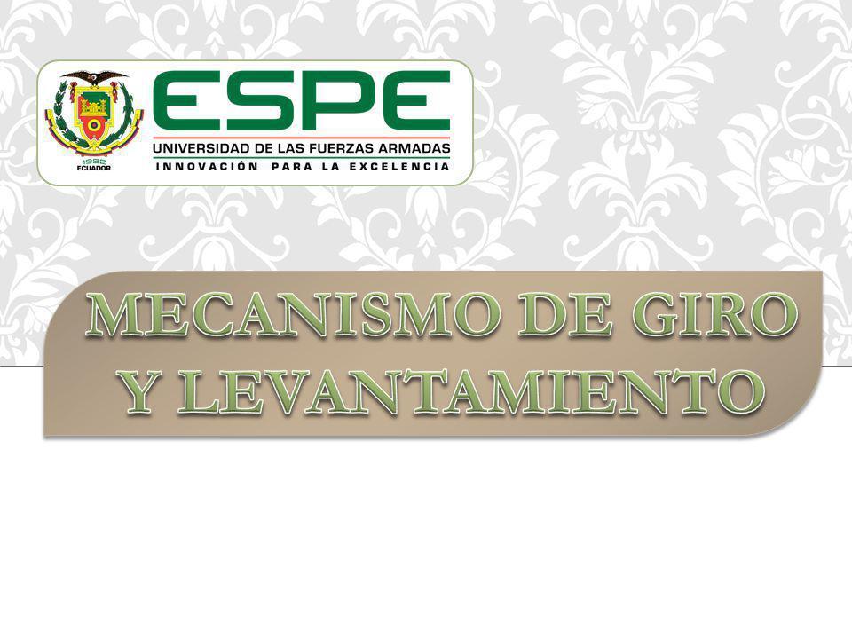 MECANISMO DE GIRO Y LEVANTAMIENTO