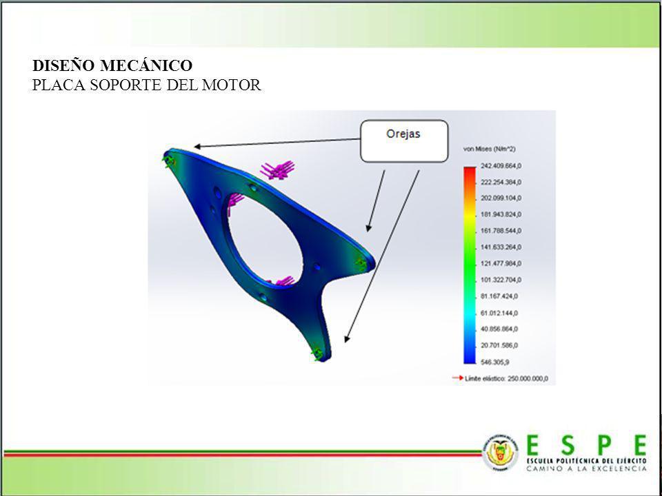DISEÑO MECÁNICO PLACA SOPORTE DEL MOTOR
