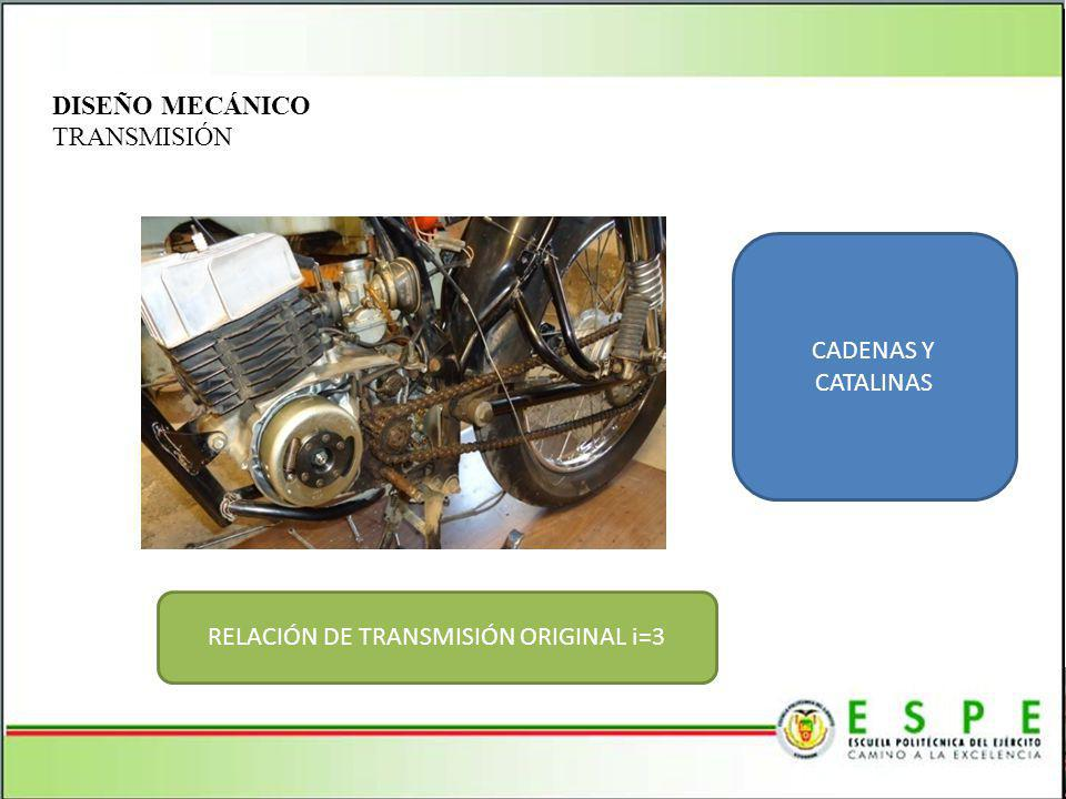 RELACIÓN DE TRANSMISIÓN ORIGINAL i=3