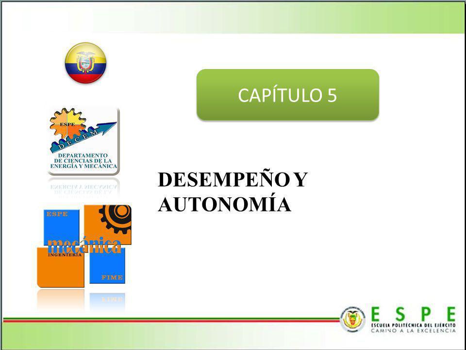 CAPÍTULO 5 DESEMPEÑO Y AUTONOMÍA