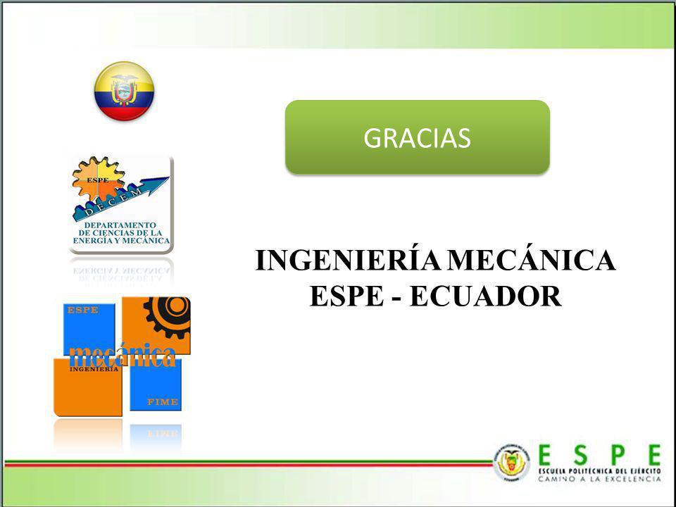GRACIAS INGENIERÍA MECÁNICA ESPE - ECUADOR