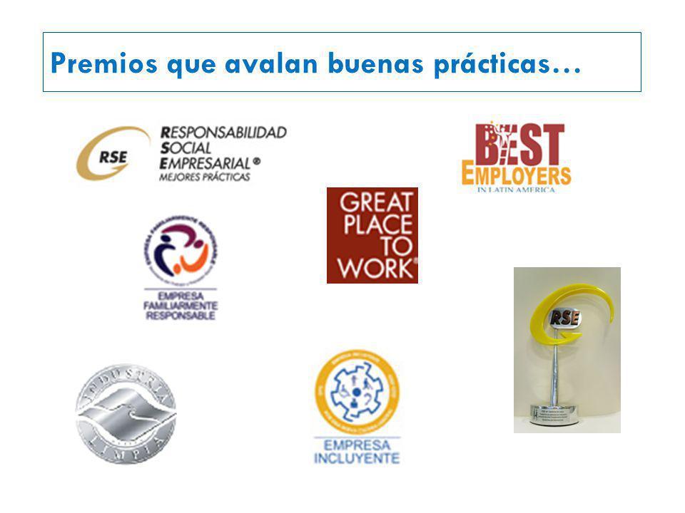 Premios que avalan buenas prácticas…
