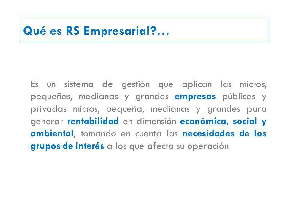 Qué es RS Empresarial …