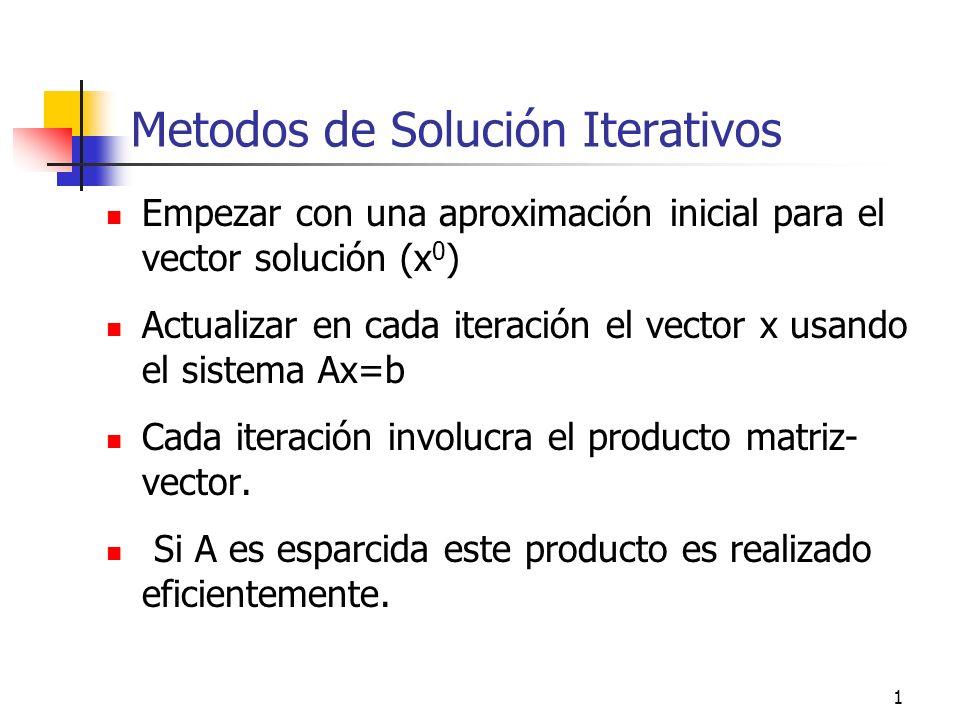 Metodos de Solución Iterativos