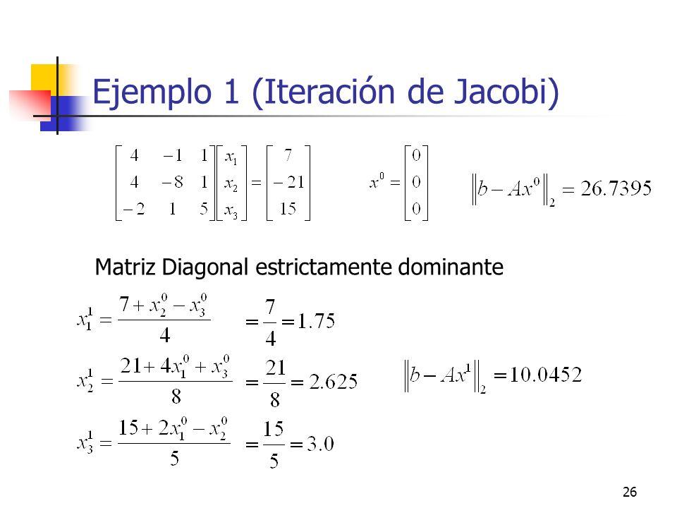 Ejemplo 1 (Iteración de Jacobi)