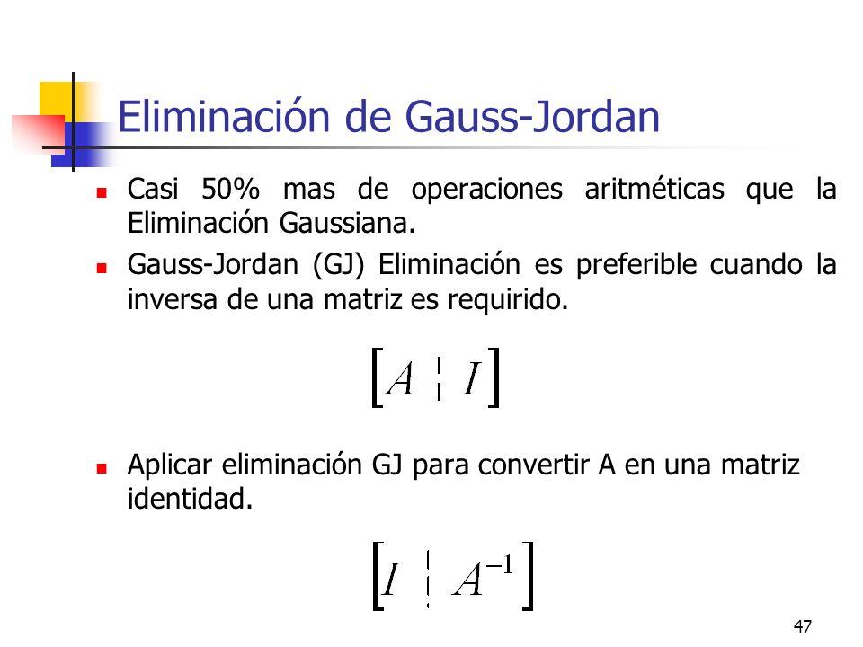 Eliminación de Gauss-Jordan