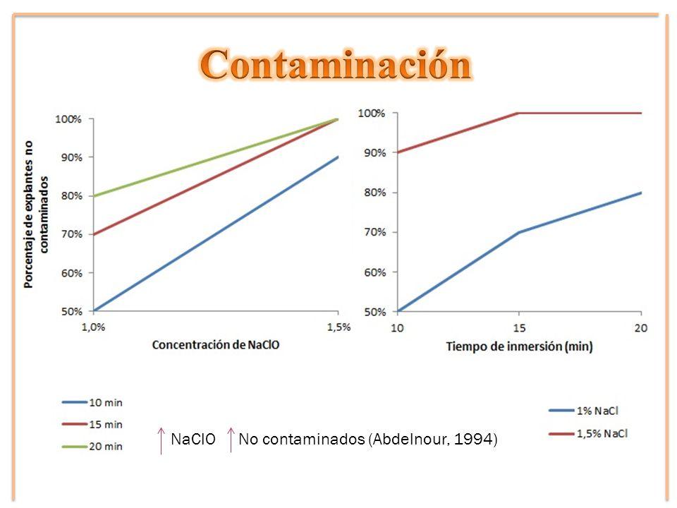 NaClO No contaminados (Abdelnour, 1994)