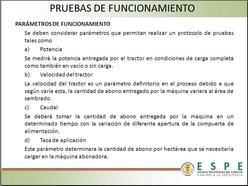 PRUEBAS DE FUNCIONAMIENTO