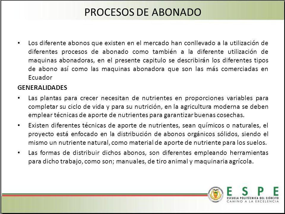 PROCESOS DE ABONADO