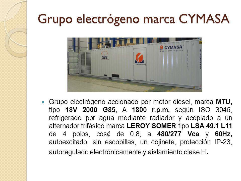 Grupo electrógeno marca CYMASA