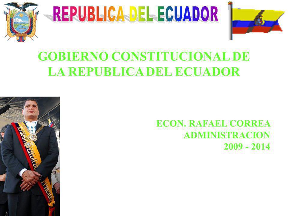 GOBIERNO CONSTITUCIONAL DE LA REPUBLICA DEL ECUADOR