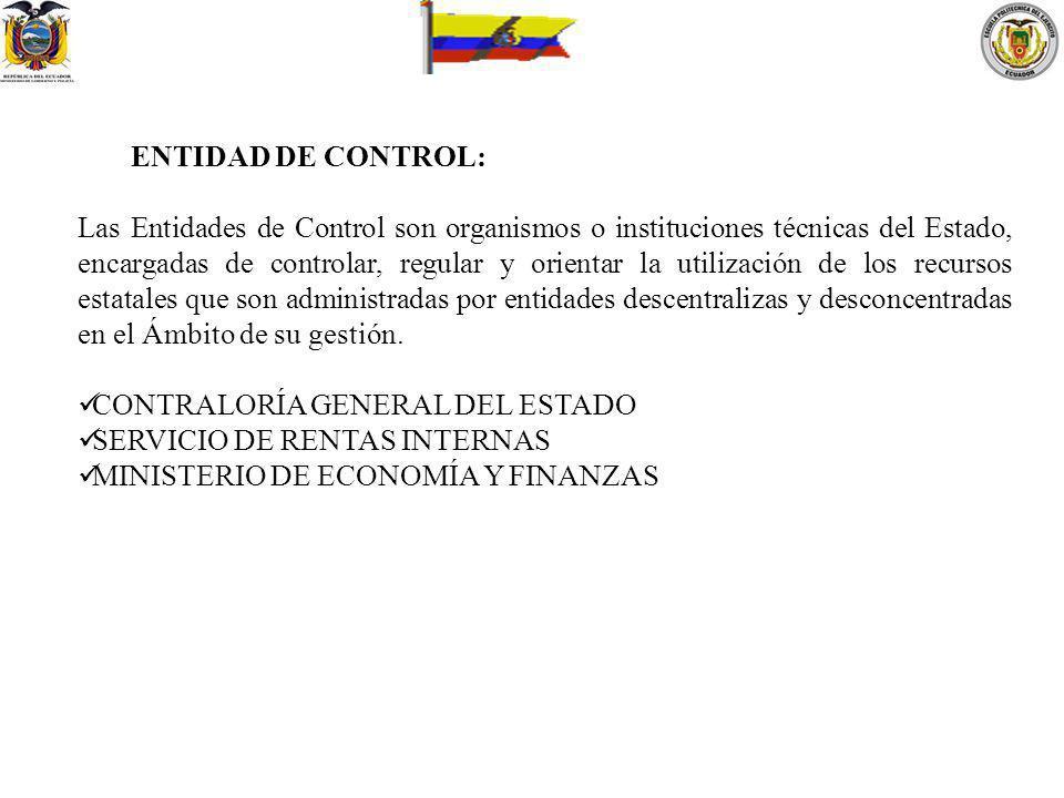 ENTIDAD DE CONTROL: