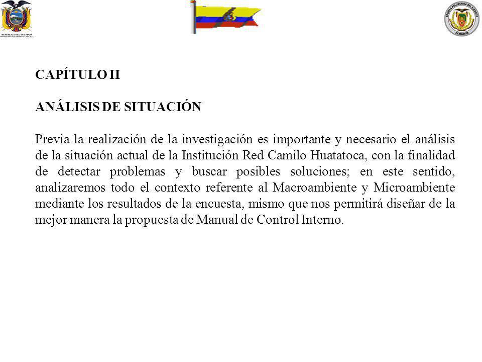 CAPÍTULO II ANÁLISIS DE SITUACIÓN.