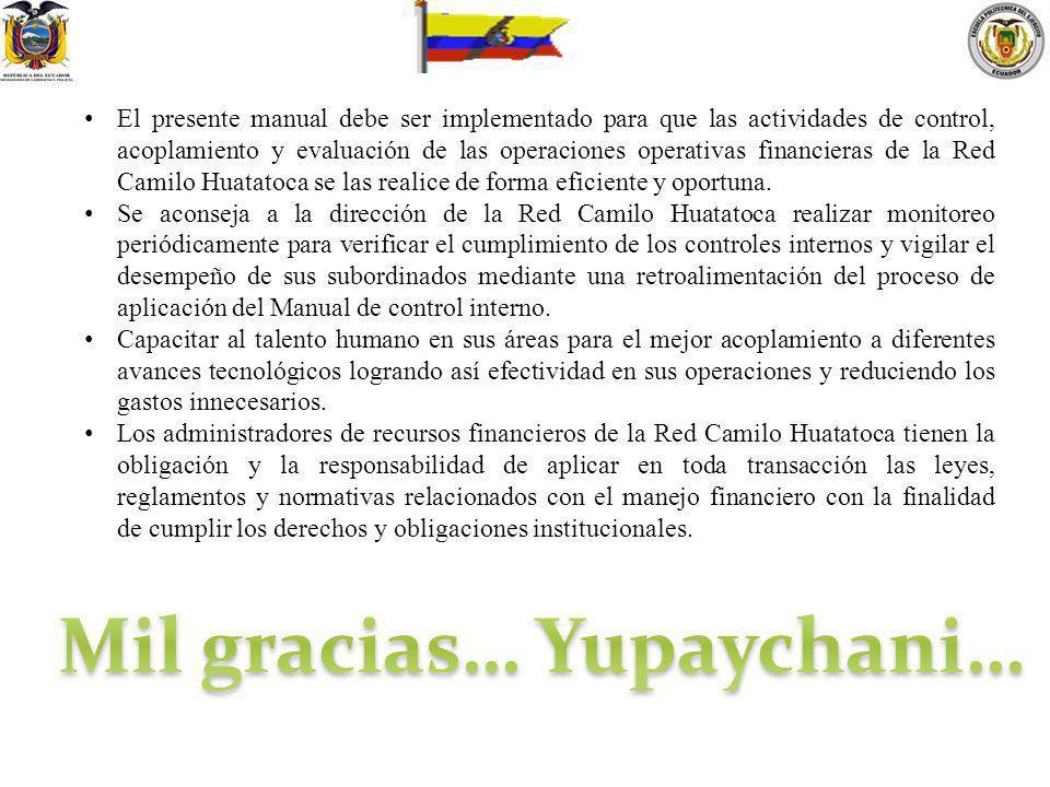 Mil gracias… Yupaychani…