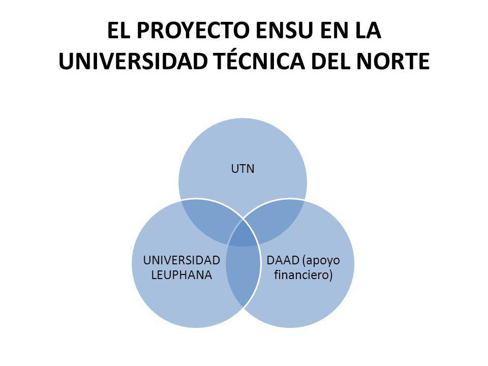 EL PROYECTO ENSU EN LA UNIVERSIDAD TÉCNICA DEL NORTE