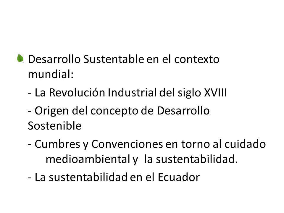 Desarrollo Sustentable en el contexto mundial: