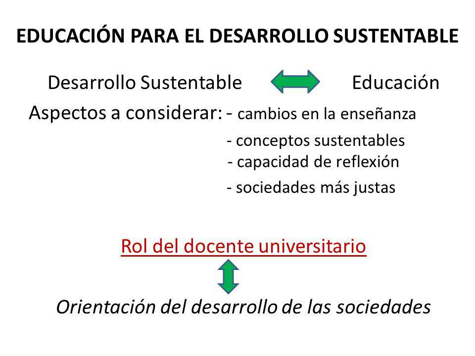 EDUCACIÓN PARA EL DESARROLLO SUSTENTABLE