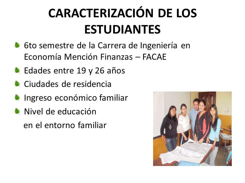 CARACTERIZACIÓN DE LOS ESTUDIANTES