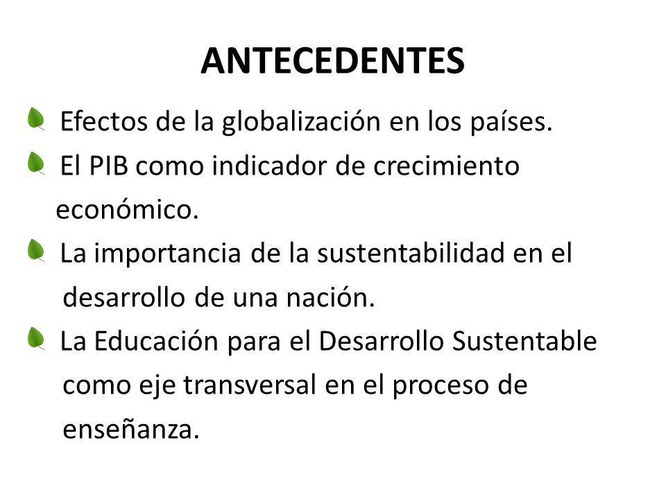 ANTECEDENTES Efectos de la globalización en los países.