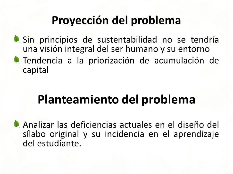 Proyección del problema