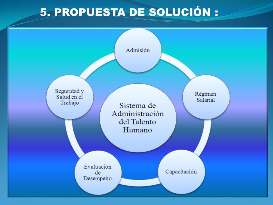 5. PROPUESTA DE SOLUCIÓN :