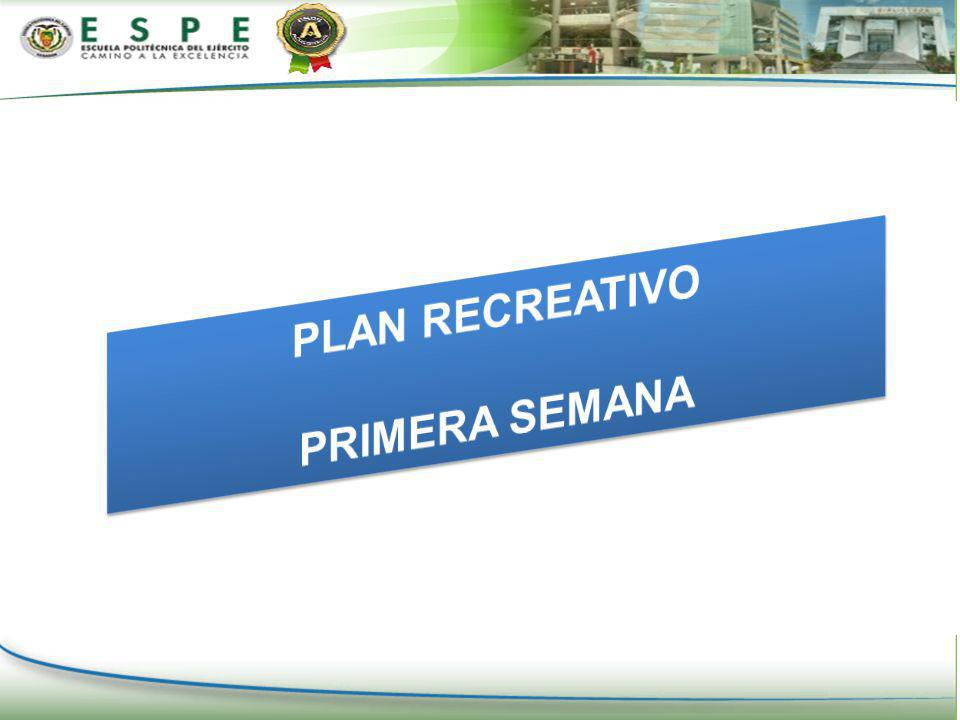 PLAN RECREATIVO PRIMERA SEMANA