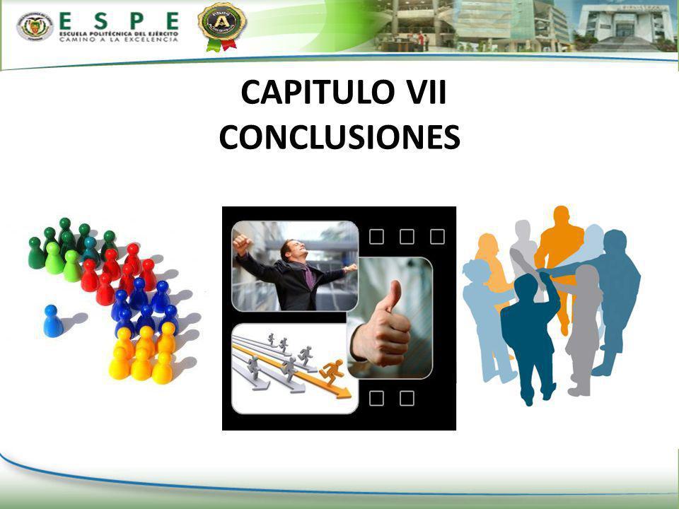 CAPITULO VII CONCLUSIONES