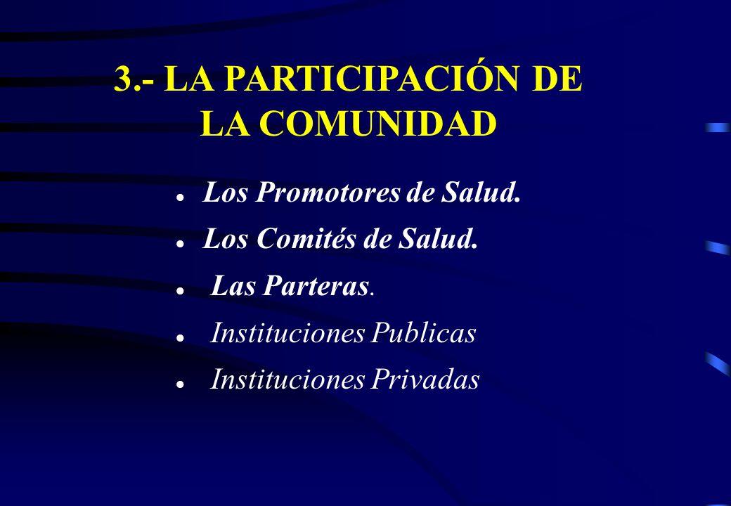 3.- LA PARTICIPACIÓN DE LA COMUNIDAD