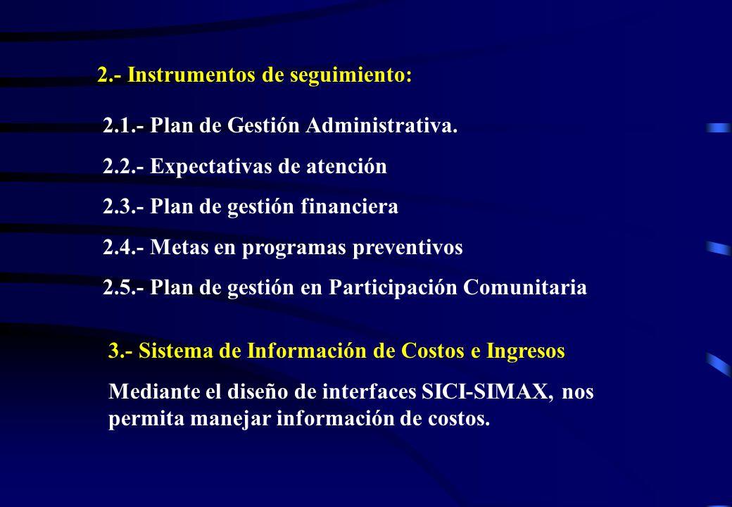 2.- Instrumentos de seguimiento: