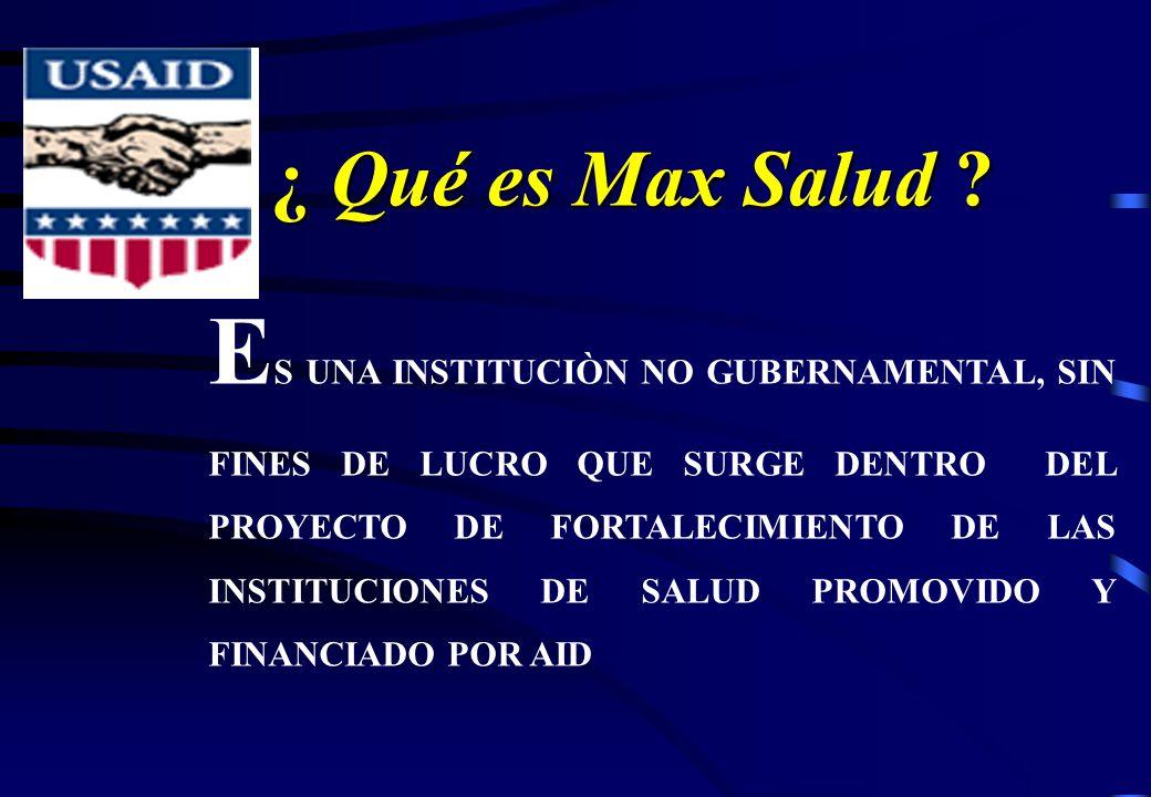 ¿ Qué es Max Salud