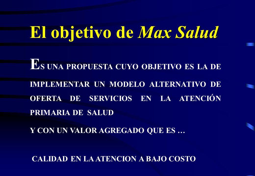 El objetivo de Max Salud