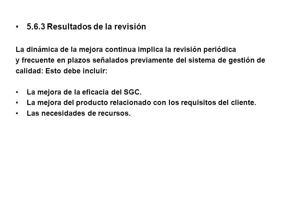 5.6.3 Resultados de la revisión