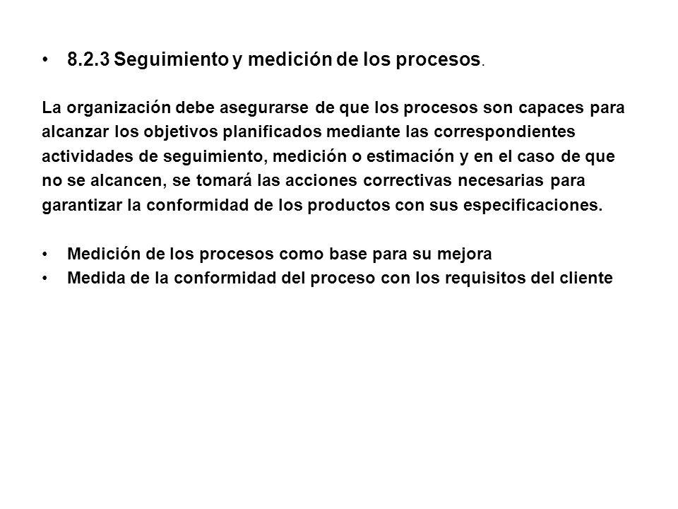 8.2.3 Seguimiento y medición de los procesos.