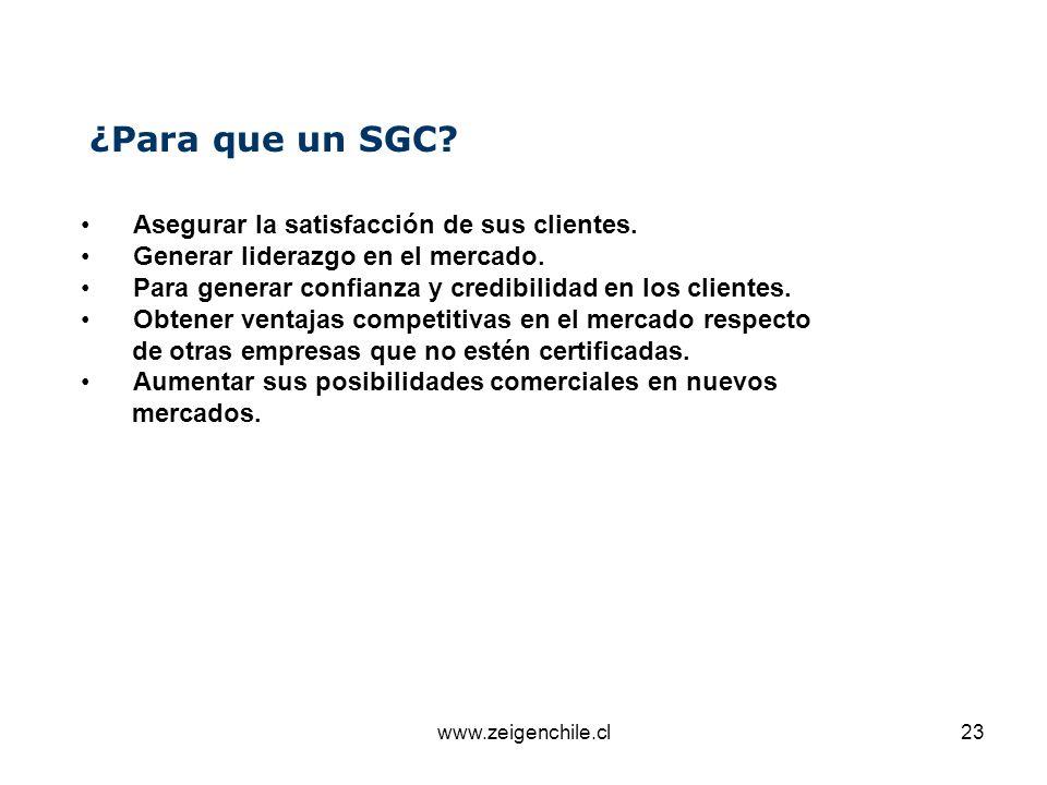 ¿Para que un SGC Asegurar la satisfacción de sus clientes.