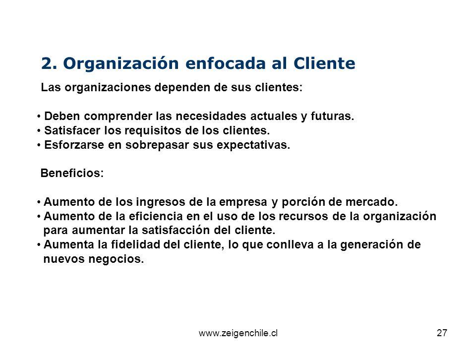 2. Organización enfocada al Cliente