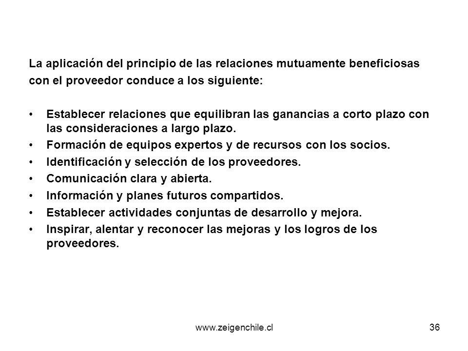 La aplicación del principio de las relaciones mutuamente beneficiosas