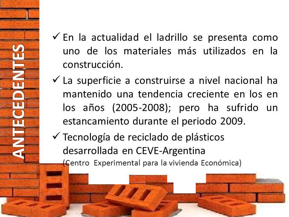 En la actualidad el ladrillo se presenta como uno de los materiales más utilizados en la construcción.