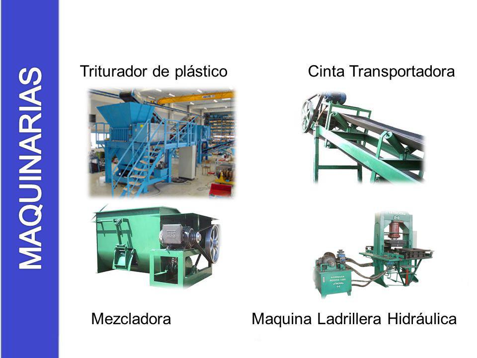 MAQUINARIAS Triturador de plástico Cinta Transportadora
