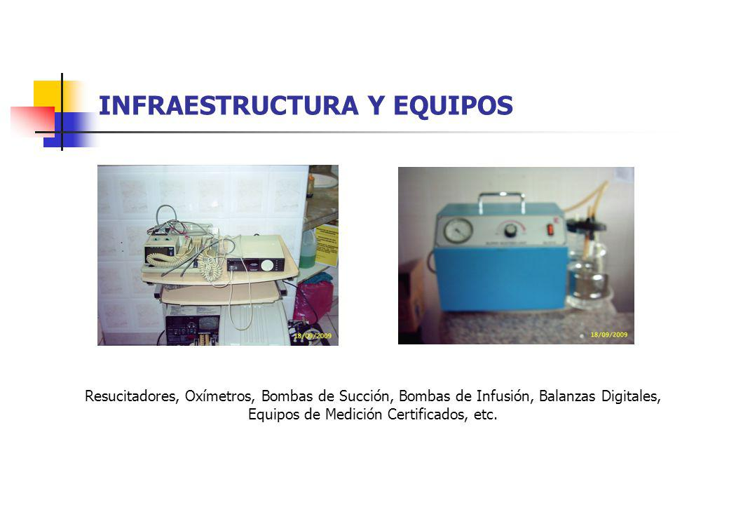 INFRAESTRUCTURA Y EQUIPOS