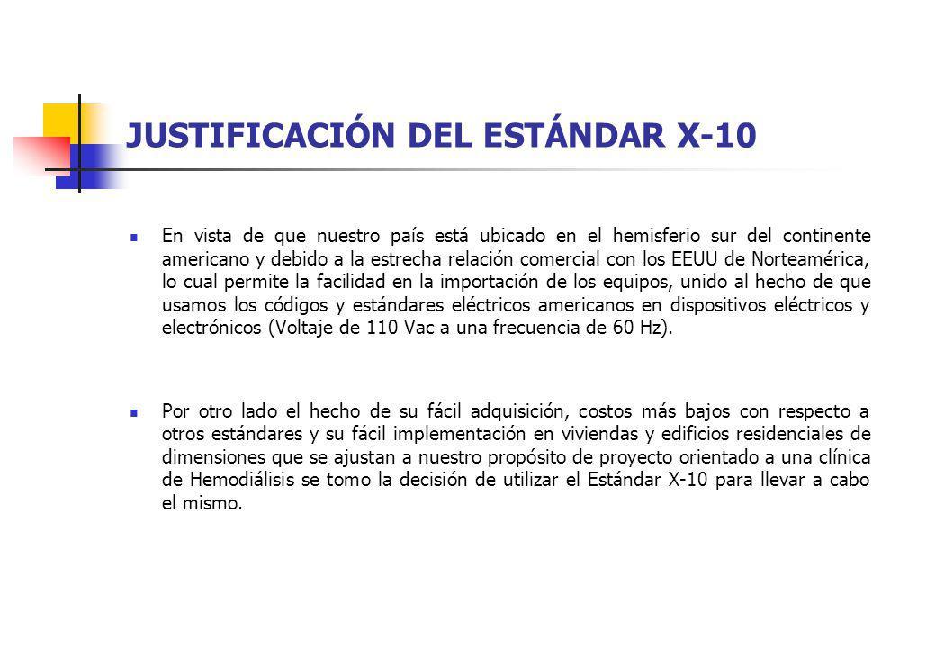 JUSTIFICACIÓN DEL ESTÁNDAR X-10
