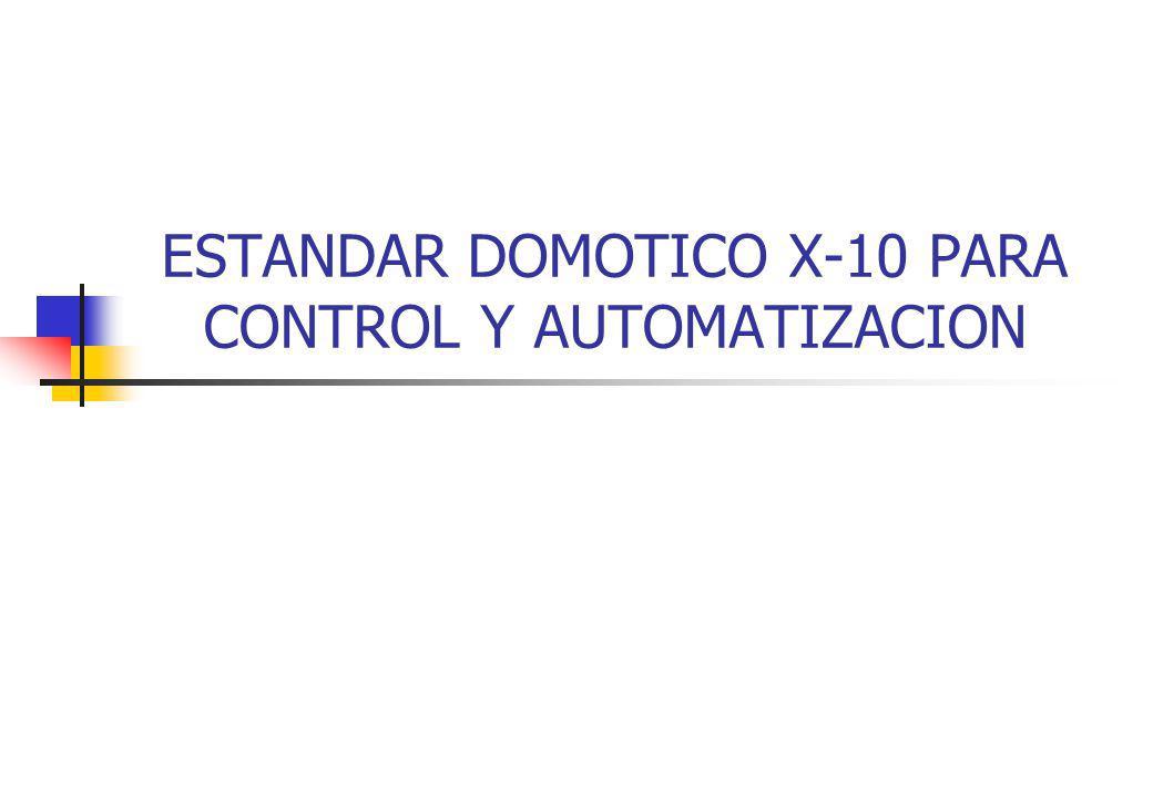 ESTANDAR DOMOTICO X-10 PARA CONTROL Y AUTOMATIZACION