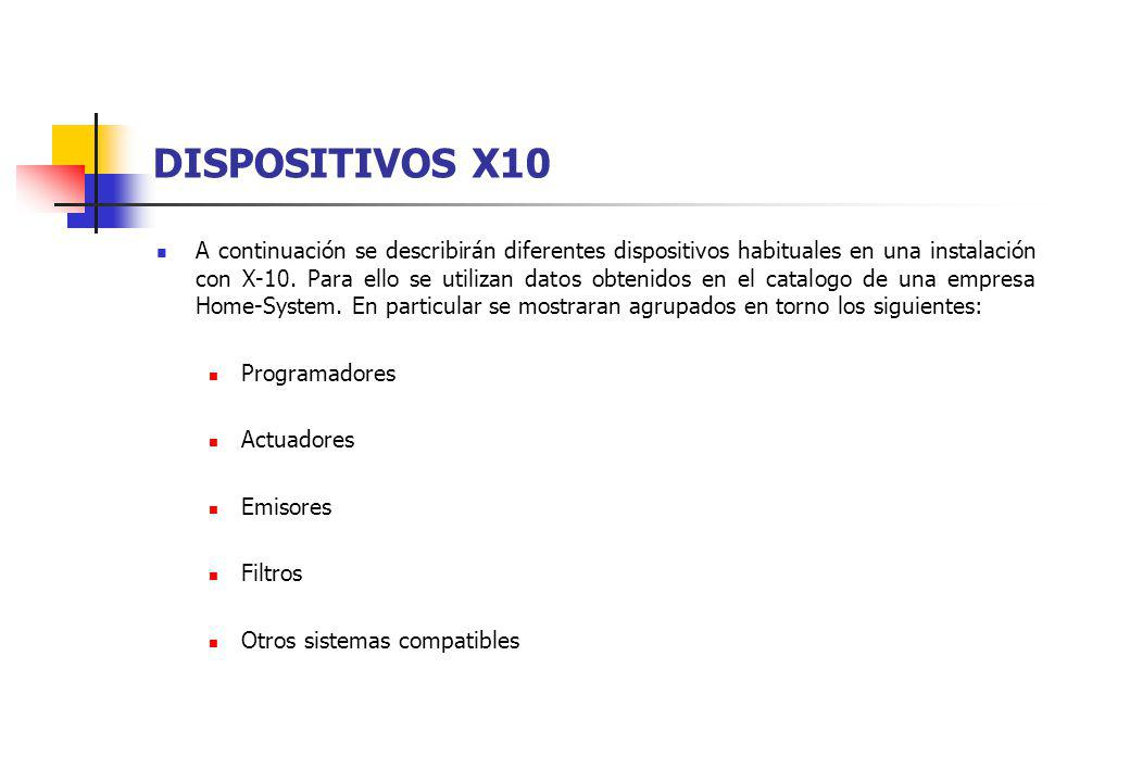 DISPOSITIVOS X10