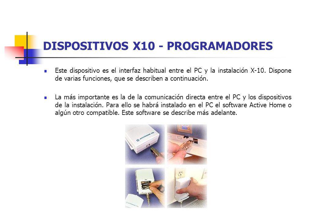 DISPOSITIVOS X10 - PROGRAMADORES