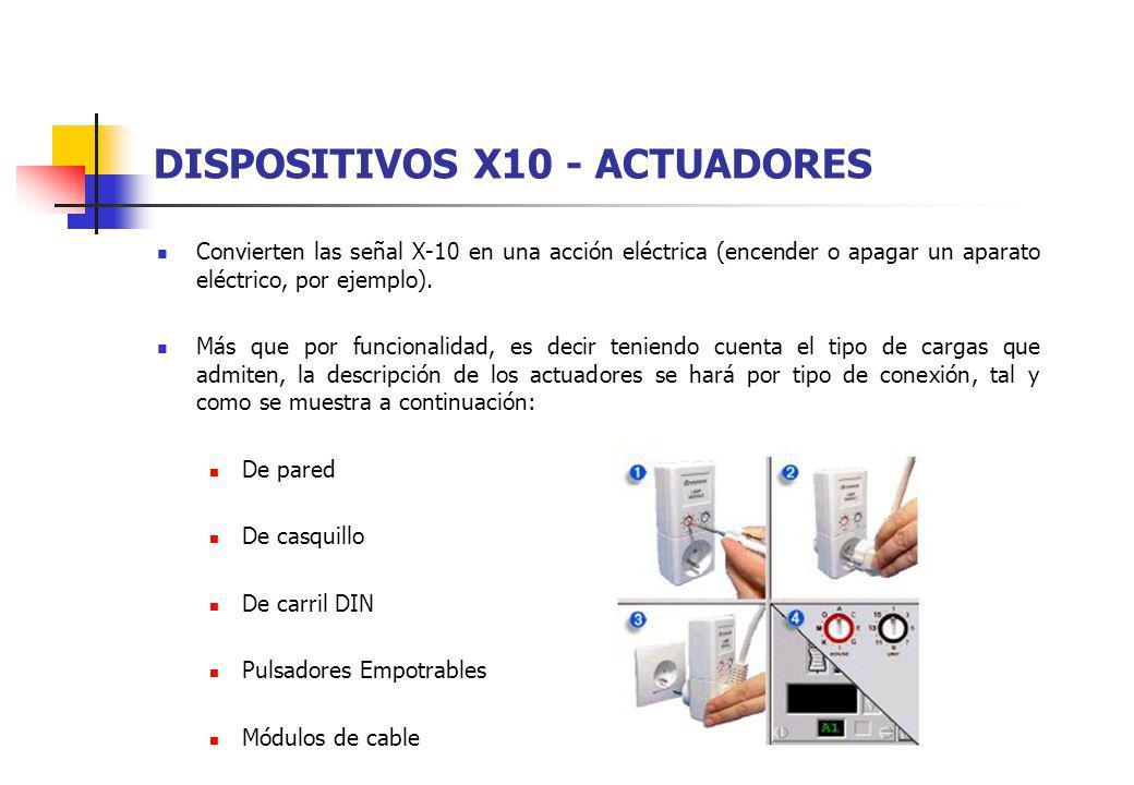 DISPOSITIVOS X10 - ACTUADORES