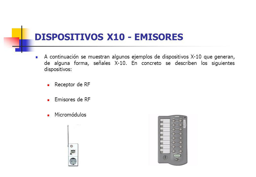 DISPOSITIVOS X10 - EMISORES