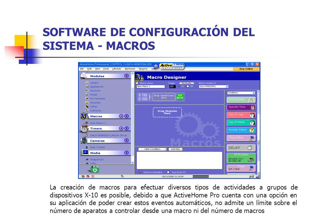 SOFTWARE DE CONFIGURACIÓN DEL SISTEMA - MACROS