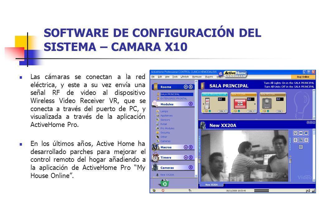SOFTWARE DE CONFIGURACIÓN DEL SISTEMA – CAMARA X10