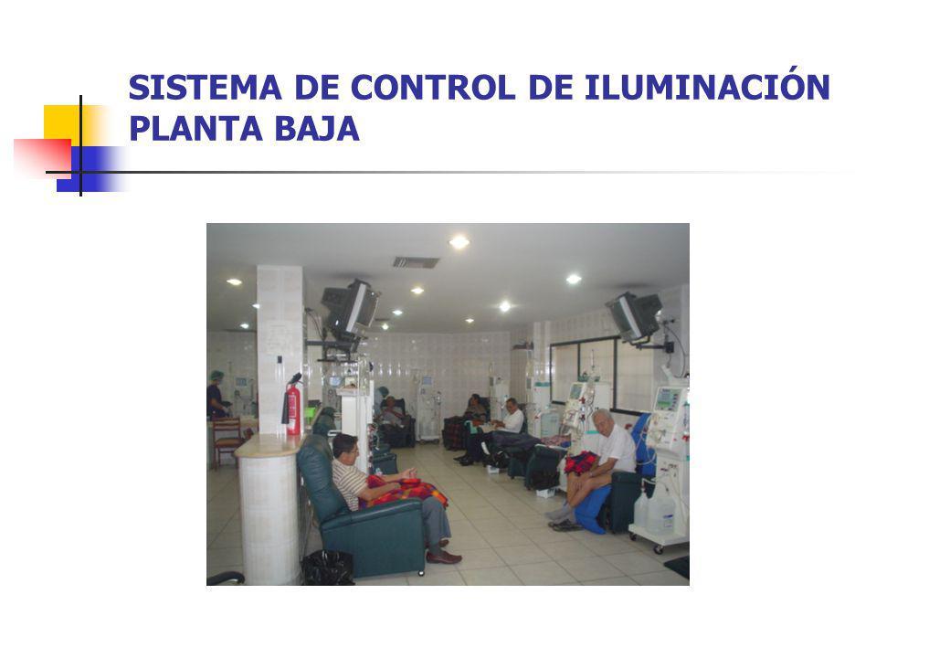 SISTEMA DE CONTROL DE ILUMINACIÓN PLANTA BAJA
