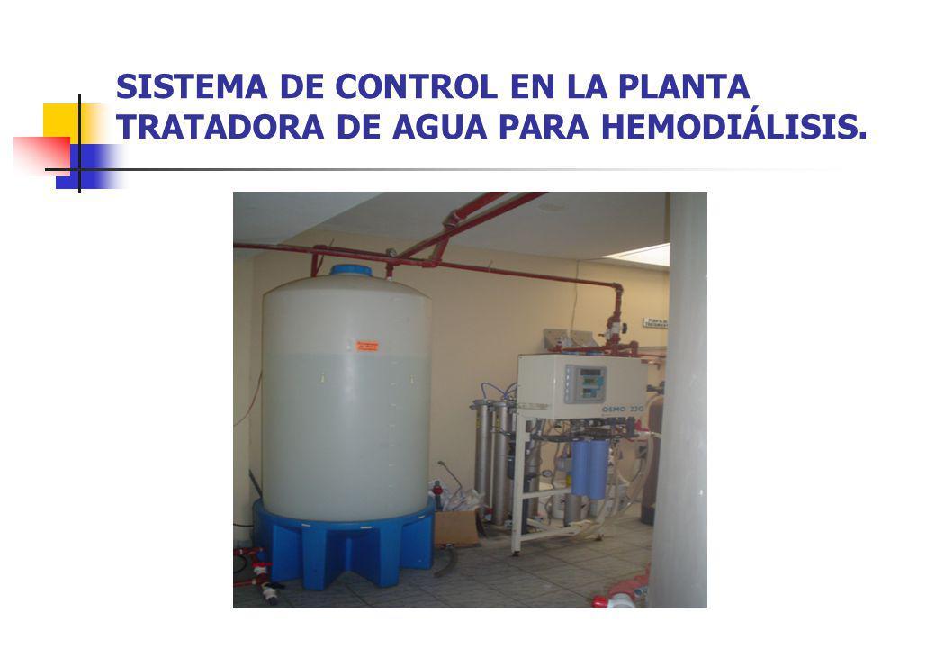 SISTEMA DE CONTROL EN LA PLANTA TRATADORA DE AGUA PARA HEMODIÁLISIS.